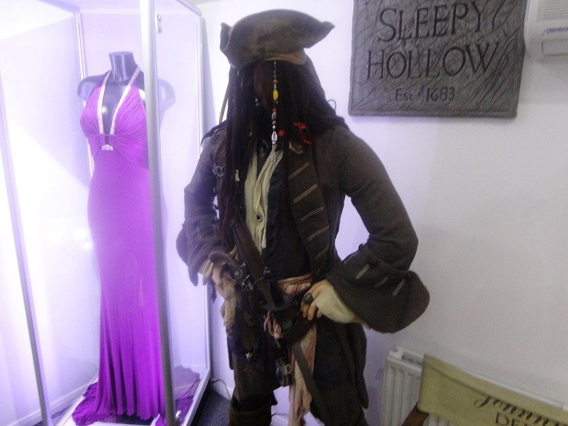 Vesper's dress and Screen Used Jack Sparrow costume