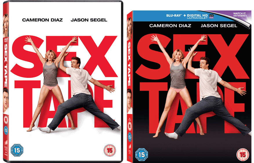 Sex tape dvd and blu ray covers