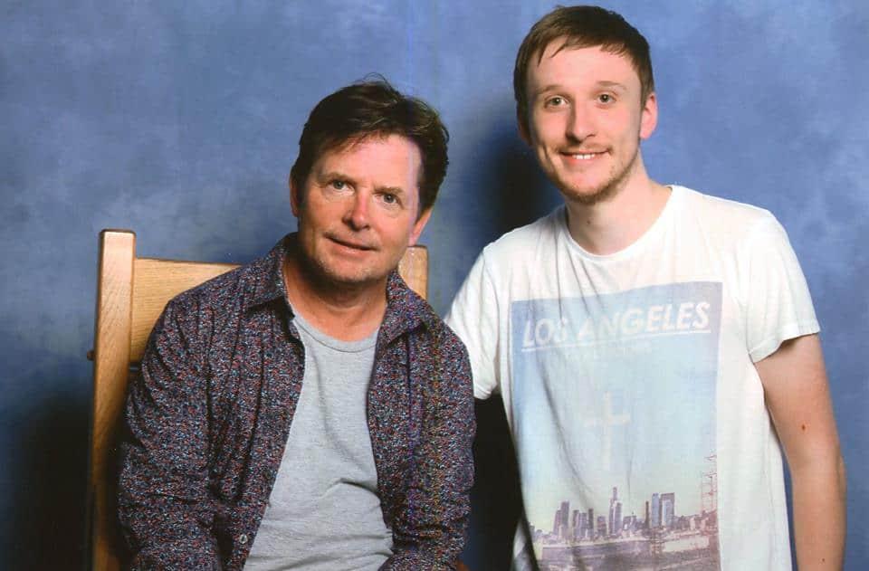 Sean Evans and Michael J. Fox