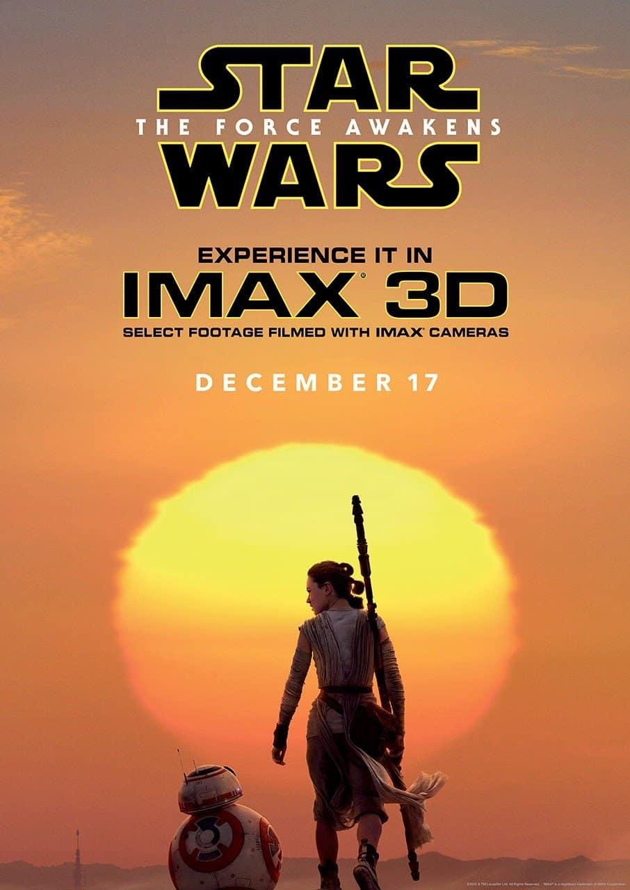 Star Wars force awakens imax poster