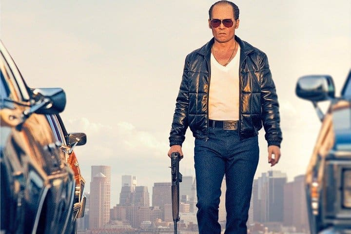 """In this image released by Warner Bros. Entertainment, Johnny Depp portrays Whitey Bulger in the Boston-set film, """"Black Mass."""" (Warner Bros. Entertainment via AP)"""