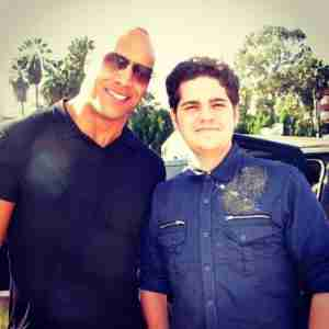 Kory Davis and Dwayne Johnson