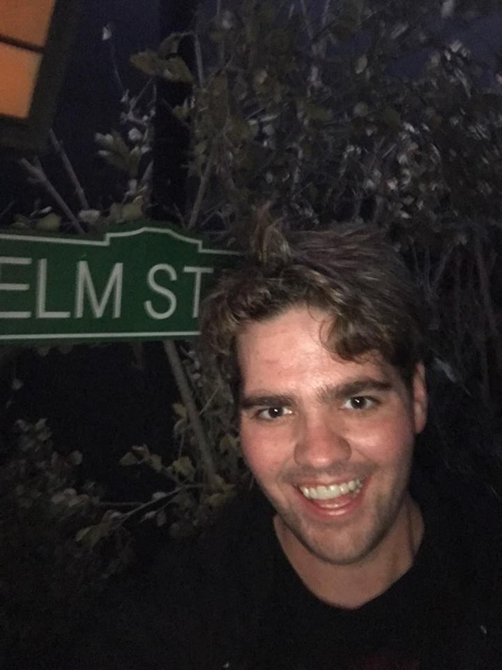 Kory taking a stroll down Elm Street