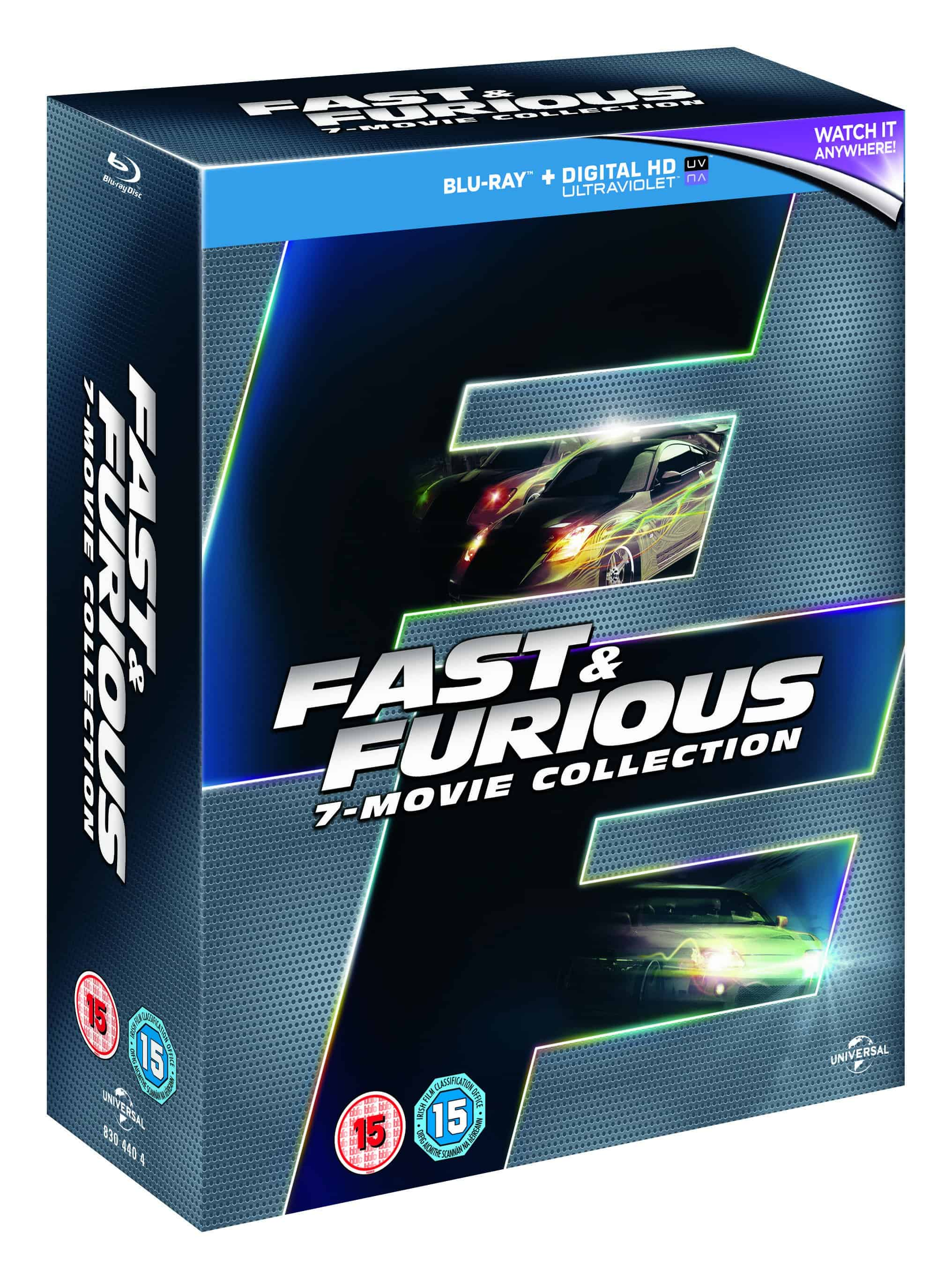 win fast and furious 7 movie collection on blu ray. Black Bedroom Furniture Sets. Home Design Ideas