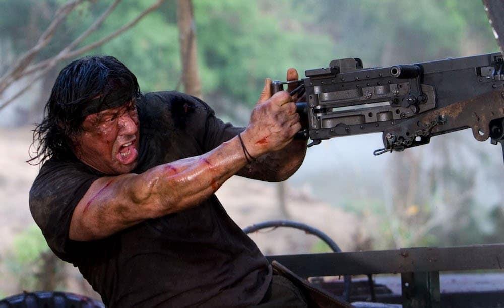 "Sylvester Stallone as ""John Rambo"" while shooting in Chiang Mai, Thailand. Photo by Karen Ballard"