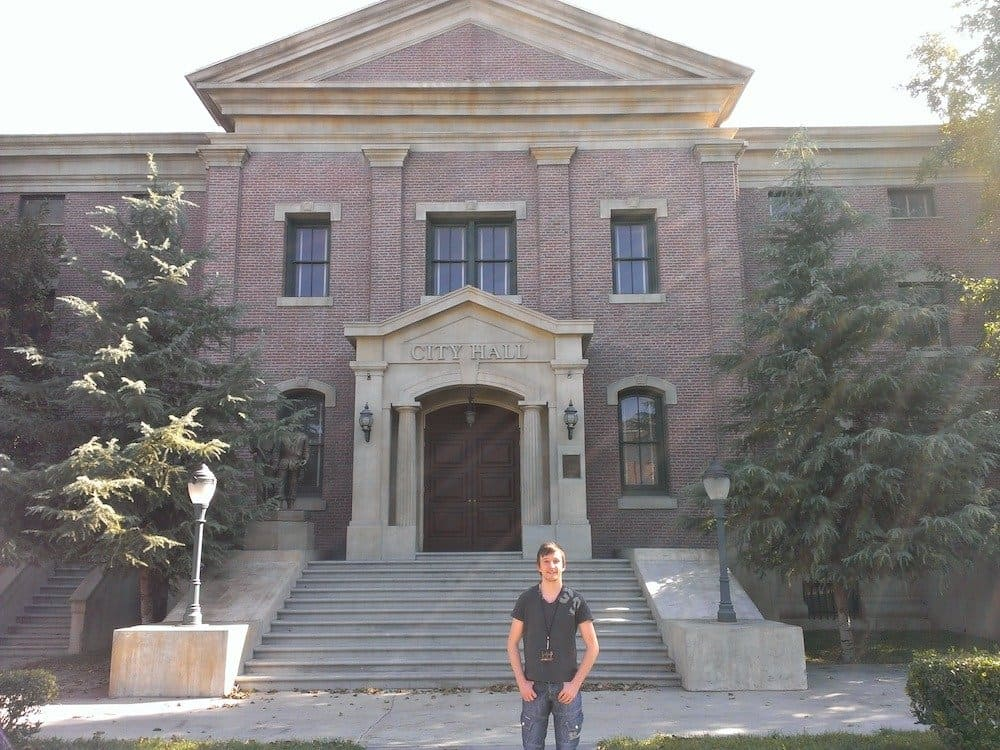Me standing infront of the clock tower building used in Back to the Future @ Universal Studios Hollywood