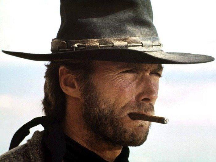 Clint Eastwood smoking a cigar