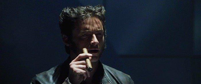 Hugh jackman smoking a cigar
