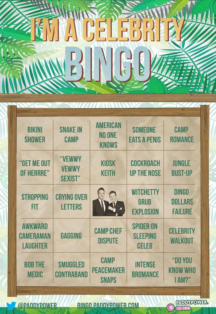 I'm a Celeb Bingo